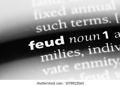 feud word in a dictionary. feud concept