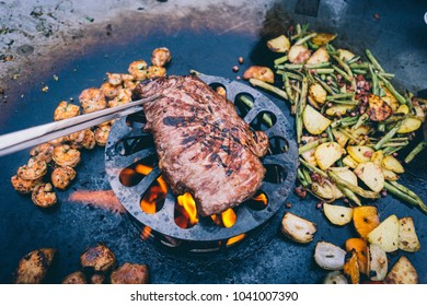 Feuerplatte cooking flame grilled