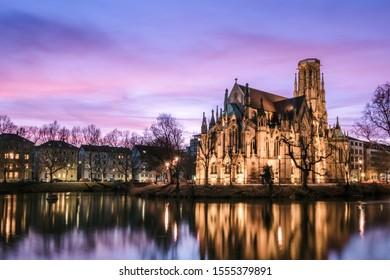 The Feuersee church, Stuttgart, Germany