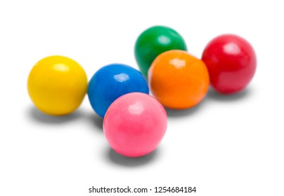 Few Gum Balls Isolated on a White Background.