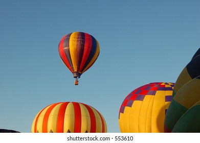 A few hot air Balloons