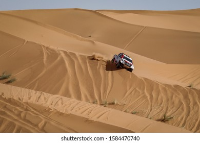 Fez, Morocco. 04/10 October 2019. FIA Cross Country Rally World Cup. Rally du Maroc, in preparation of Dakar 2020. Fernando Alonso and the codriver Marc Coma, Spain, Toyota.