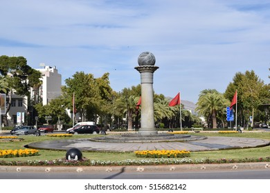 Fez Morocco - November 13 2016 - View of avenue Hassan II, new town Fez