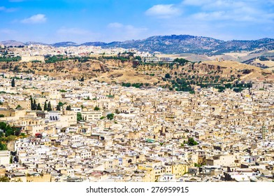 Fez panoramic view of white town,Morocco