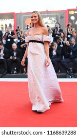 Fiammetta Cicogna walks the red carpet ahead of the opening ceremony during the 75th Venice Film Festival at Sala Grande on August 29, 2018 in Venice, Italy.