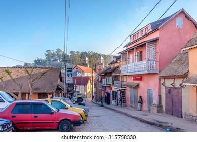 FIANARANTSOA,MADAGASCAR - AUGUST 06,2015 - Fianarantsoa is a city  in south central Madagascar.Fianarantsoa is the capital of Haute Matsiatra Region. It was built in the early 19th century.