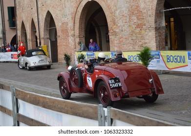 Fiat 514 CA, 1000 Miles retro car race, Este, Italy – may 16 2014