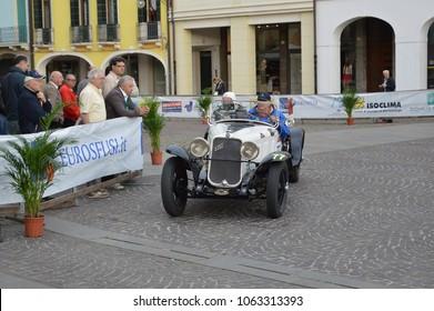Fiat 514 MM spider, 1000 Miles retro car race, Este, Italy – may 16 2014