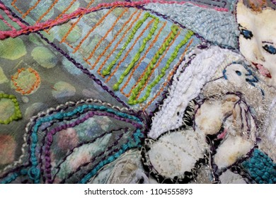 Fiber Art Embroidery Background