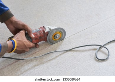 Fiber cement board cutting by the cutting blade with straight line