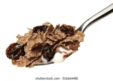 Fiber cereal with raisins