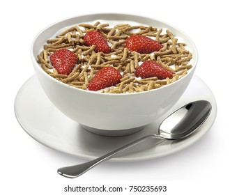 Fiber cereal with strawberries
