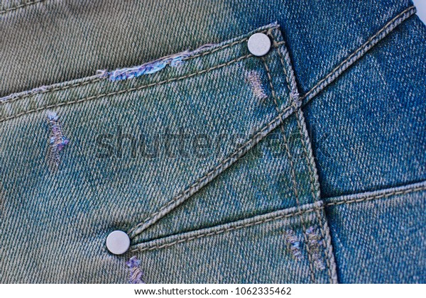 Fiber and fabric structure natural denim. Jeans background for design