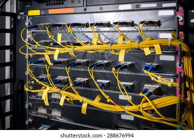 Fiber optic on core network switch