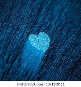 Fiber-optic online dating concept / 3D illustration of glowing optical fibres forming heart shape