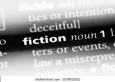 fiction word in a dictionary. fiction concept