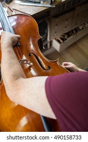 at a fiddle builder