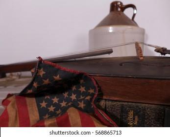 Fiddle Flag and Jug
