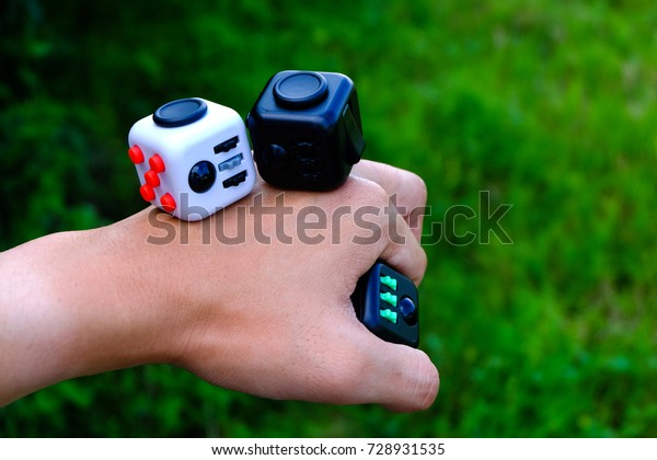 best online 50% off reasonably priced Fidget Cube Stress Reliever Fingers Toy Stock Photo (Edit ...