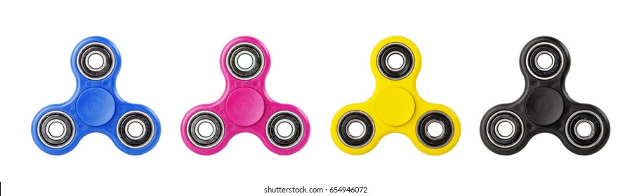 Fidget Spinner in CMYK concept isolated on white background