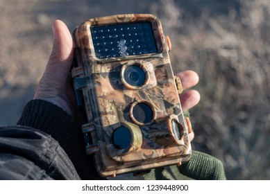 field camera or trail camera for capturing candid photos and videos of wild animals
