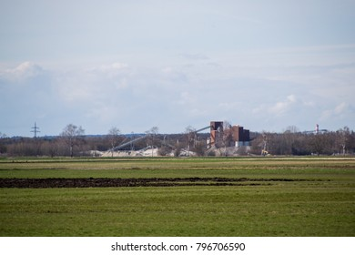Field with factory in Bavaria