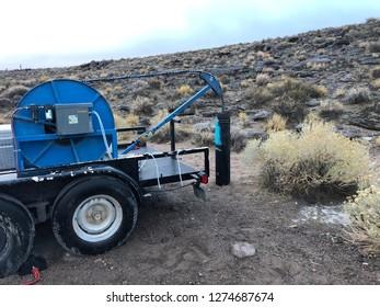 field ground water sampling in the desert