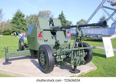 field gun by Pegasus bridge, Normandy