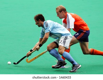 Field hockey match Argentina against Netherland (right)