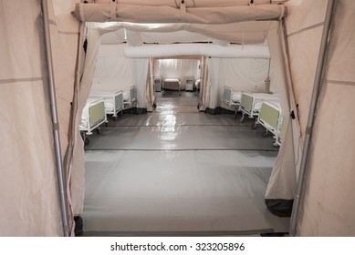 Field hospital tent.