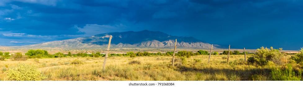 Field near Sandia Mountain in Airzona