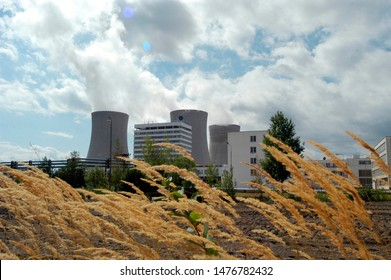 Field next to Nuclear Power Plant Temelin in the Czech Republic