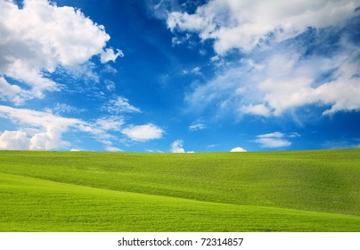 Field and sky, nature background