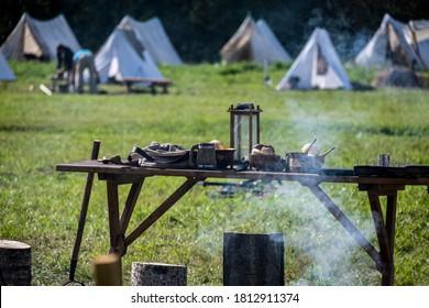 Soldiers Marching War of 1812 Reenactment - Kozzi