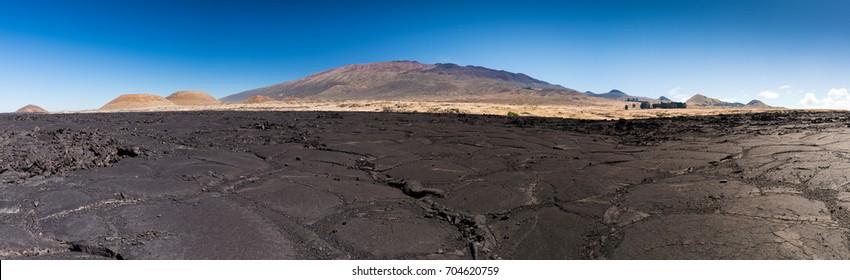 Field of Solidified Lava at the Foot of Mauna Kea, Big Island, Hawaii