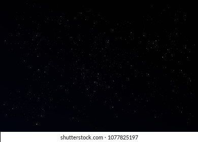 Field of stars in the night. Background  of  Universe, The sky is cloudless at Black backdrop.