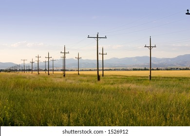 Field with Symmetric Electric Poles in Helena Montana