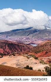 Field trip in the High Atlas at the Moroccan side. The High Atlas are colourful mountains, which I ever seen. A composition from red, orange, yellow, grey, white and a lot of other colors.