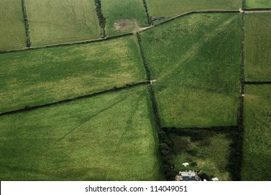 Fields, aerial view