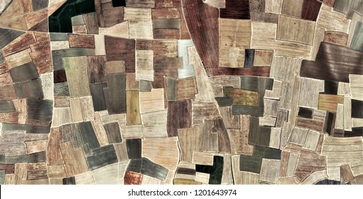 Fields in the afternoon, tribute to Pollock, abstract photography of the deserts of Africa from the air, aerial view, abstract expressionism, contemporary photographic art, abstract naturalism,