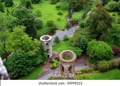 Fields around Blarney Castle in Ireland