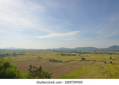 Fields and beautiful sky Thailand