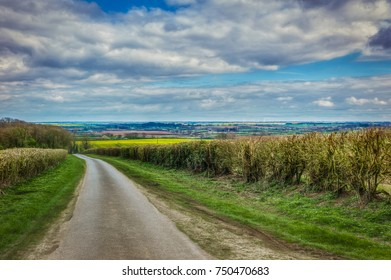 Fields and clouds in the Lincolnshire wolds
