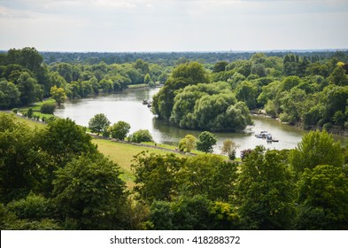 Fields of Richmond park in London, UK