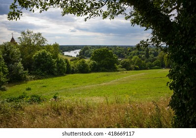 Fields of Richmond park in London, UK