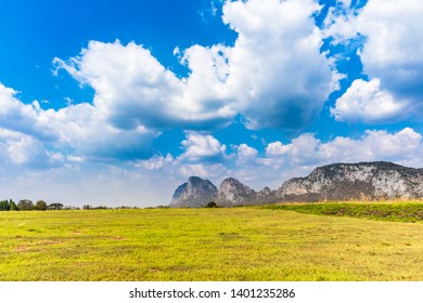 fields under blue sky in Thailand