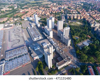 Fiera District in Bologna, aerial view.
