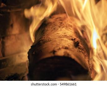 fierce burning log