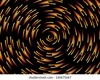 Fiery Abstract Spiral Background