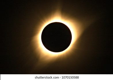 Fiery corona of total solar eclipse captured in 2017.